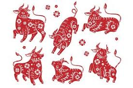 Chinese new year 2021 background. Chinese New Year 2021 Ox Red Paper Pre Designed Vector Graphics Creative Market