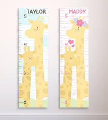 Giraffe Growth Chart Personalized Giraffe Growth Ruler Kids Giraffe Decor Mother And Baby Giraffe Custom Name Growth Chart