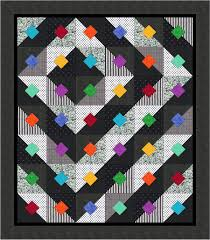Pin by Louise Da Silva on Quilts 13 | Pinterest | Free pattern ... & Bright Black & White Free Quilt Pattern from Quiltshop Online Adamdwight.com