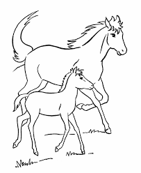 Small Picture Horse coloring page Mare and her colt and other coloring