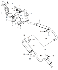 Exhaust system for 2012 chrysler town country mopar parts giant 2004 chrysler crossfire engine diagram