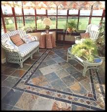 a conservatory using antrad floor tiles