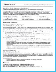 Bar Manager Resume Job Description Examples Perfect Resume Format