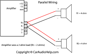 sub and amp wiring diagram car audio amplifiers parallel speaker wiring subwoofer wiring diagrams
