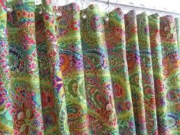 bright yellow shower curtains colored fabric uk bohemian curtain green bathroom decor bathrooms alluring b orange