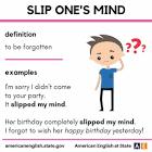 slip one's mind
