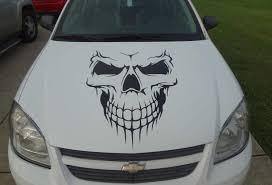 car wall decor beautiful car skull hood decal garage home decor wall hanging graphic