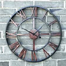 large outdoor wall clock mounted clocks extra exterior giant kaptr large outdoor wall clock garden clocks