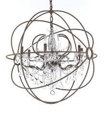 chandeliers to order special benita antique bronze 4 light iron orb crystal chandelier iron