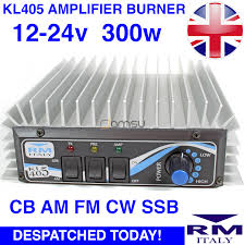 rm kl405 3 30mhz 60w 200w linear amplifier burner preamp am fm