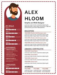 Graphic Resume 17 Infographic Resume Templates Free Download