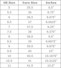 Chanel Shoes Size Chart Mount Mercy University