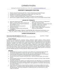 Sample Property Manager Resume Topshoppingnetwork Com