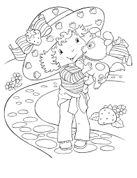 Free Printable Strawberry Shortcake Coloring Pages