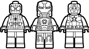 Small Picture Lego Spiderman and Lego Iron Man Lego Captain America Coloring