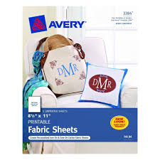 Avery Printable Fabric Sheets 8 1 2 X 11 3384 Office
