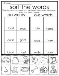 When teaching a phonics skill it's often helpful to use a key word and picture to help the students remember the sound to the letter combinations. Long O Worksheets And Activities O E Oa Ow And Oe No Prep By Jane Loretz