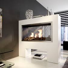 double sided electric fireplace bioethanol contemporary