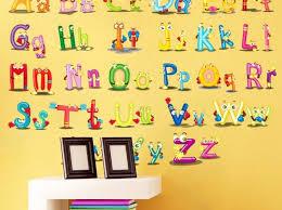 alphabet wall stickers india
