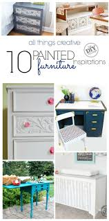 diy furniture makeover. 10 Awesome Painted Furniture Inspirations, Including Painting Upholstery. Diy Makeover