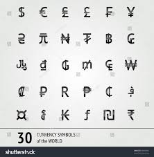 Vector Currency Symbols World Money 32 X 32 Stock Vector Royalty