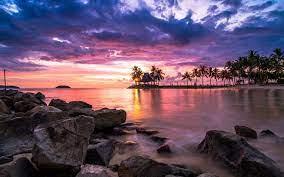 nature, Landscape, Sunset, Tropical ...