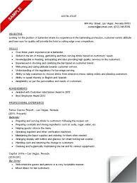 Bartending Resume Cv Template Mmventures Co