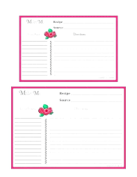 Openoffice Recipe Card Template Examples Full Page Recipe Template For Word Free Card Ms