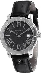 aigner linate men s black dial leather band watch a32168 price this item is currently out of stock
