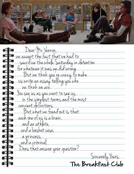 awesome the breakfast club letter how to format a cover letter 70b39cda6b8bd9d8228a58a83db6c3eb 16030 dear mr vernon letter from the breakfast club