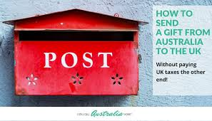 how to send a gift to the uk from australia without paying ta and duties