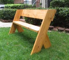 diy tutorial 16 simple outdoor wood bench