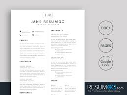 Plain Resume Templates Free Plain White Background Resume Templates Resumgo Com