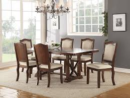Amazoncom Dining Room Formal Look Classic 7pc Set Dark Cherry