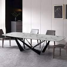 modern stylish rectangle white faux