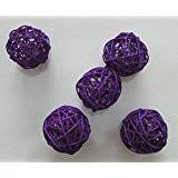 Purple Decorative Balls Amazon Decorative Spheres Purple Rattan Ball Vase Filler 2