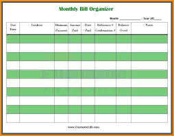 Excel Monthly Bill Tracker Monthly Bill Tracker Template Free Spreadsheet Excel Chaseevents Co
