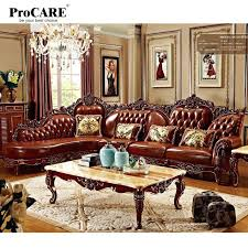 red and brown living room furniture red solid wood genuine leather corner sofa set l shape red and brown