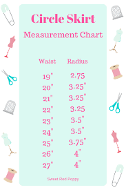 Circle Skirt Chart Diy Pattern Easy Circle Skirt Sewing Tutorial Sweet Red Poppy