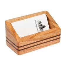 wooden business cards capitol wood desk business card holder