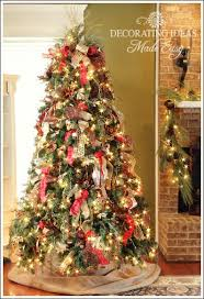 christmas trees decorated with burlap ribbon. How To Decorate Christmas Tree With Only Ribbon And Greenery Decorations Crafts Inside Trees Decorated Burlap