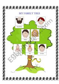 Simple Family Simple Family Tree Esl Worksheet By Alice21_ciobanu
