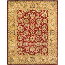 safavieh classic red gold 8 ft x 10 ft area rug