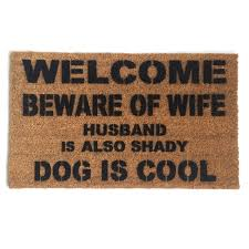 Funny & rude doormats Art you can wipe your by DamnGoodDoormats