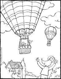 Lowie Zwaait Naar Een Luchtballon Kiddicolour