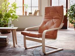 ikea leather chairs leather chair white. An Armchair With Layer-glued Bent Birch Frame And A Natural-coloured Leather Cushion Ikea Chairs Chair White R