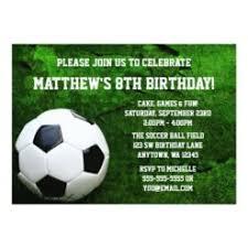 Soccer Party Invitations Soccer Birthday Party Invitation Card