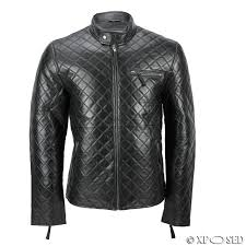 XPOSED Mens Real Leather Black Smart Casual Quilted Biker Style ... & XPOSED Mens Real Leather Black Smart Casual Quilted Biker Style Bomber  Jacket Adamdwight.com