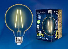 <b>Лампа</b> светодиодная <b>LED</b>-<b>G95</b>-<b>4W</b>/<b>GOLDEN</b>/<b>E27 GLV21GO Uniel</b> ...