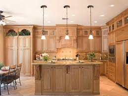 natural cherry wood kitchen cabinets